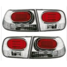 Honda Civic (96-00) kupejas aizmugurējie lukturi, hromēti