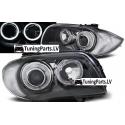 BMW E81/E82/E87/E88 priekšējie lukturi, LED eņģeļ acis, pelēki