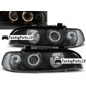 BMW E39 priekšējie lukturi, eņģeļ acis, melni