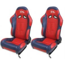 """Krēsls """"Spacelook"""", sarkans/zils, regulējams + sliedes, labais + kreisais"""