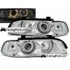 BMW E39 priekšējie lukturi, eņģeļ acis, hromēti