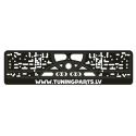 Licence plate holder, black, TuningParts.LV