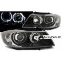BMW E90/E91 head lights, LED angel eyes, black