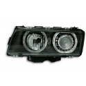 BMW E38 (94-98) head lights, angel eyes, black