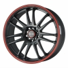 Tenzo-R Project-7 v1 18x8 ET25 5x100/114 Black/Red
