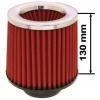 Simota gaisa filtrs 89mm ieeja, sarkans