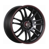Tenzo-R Project-7 v1 18x8 ET45 4x100/114 Black/Red