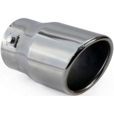 Izpūtēja uzgalis, apaļš,ieeja  48 - 65 mm, slīps gals melns hroms