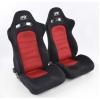 """Krēsls """"Chicago"""", sarkans/melns, regulējams + sliedes, labais + kreisais"""