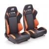 """Krēsls """"Frankfurt"""", melns/oranžs, regulējams + sliedes, labais + kreisais"""