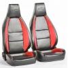 """Krēsls """"Hamburg"""", melns/sarkans, regulējams + sliedes, labais + kreisais"""