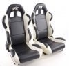 """Krēsls """"Boston"""", melns/balts, regulējams + sliedes, labais + kreisais"""