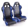 """Krēsls """"Boston"""", melns/zils, regulējams + sliedes, labais + kreisais"""