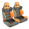 """Krēsls """"Edition 1"""", oranžs/melns, regulējams + sliedes, labais + kreisais"""