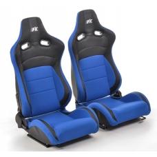 """Krēsls """"Köln"""", zils/melns, regulējams + sliedes, labais + kreisais"""