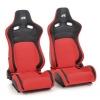 """Krēsls """"Köln"""", melns/sarkans regulējams + sliedes, labais + kreisais"""