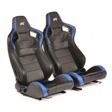 """Krēsls """"Bremen"""", zils/melns, regulējams + sliedes, labais + kreisais"""