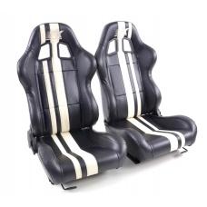 """Krēsls """"Portland"""", melns/balts, regulējams + sliedes, labais + kreisais"""