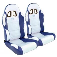 """Krēsls """"Miami"""", balts/zils, regulējams, labais + kreisais"""