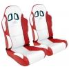 """Krēsls """"Miami"""", balts/sarkans, regulējams, labais + kreisais"""