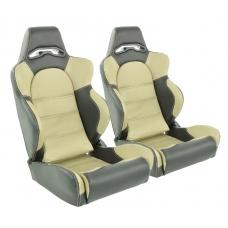"""Krēsls Edition 1"""", smilškrāsas/melns, regulējams + sliedes, labais + kreisais"""