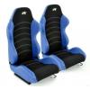 """Krēsls """"Vancouver"""", zils/melns, regulējams + sliedes, labais + kreisais"""