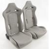 Krēsls pelēks, regulējams + sliedes, labais + kreisais