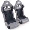 """Krēsls """"Race 1"""", pelēks/melns, labais + kreisais"""