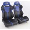 """Krēsls """"Atlanta"""", melns/zils, regulējams + sliedes, labais + kreisais"""