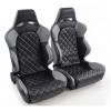 """Krēsls """"Las Vegas"""", melns/pelēks, regulējams + sliedes, labais + kreisais"""