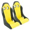 "Krēsls ""Edition 4"", dzeltens/melns + sliedes, labais + kreisais"