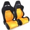 """Krēsls """"Edition 3"""", oranžs/melns, regulējams + sliedes, labais + kreisais"""