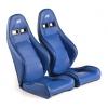 """Krēsls """"Dortmund"""", zils, regulējams + sliedes, labais + kreisais"""