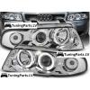 Audi A4 B5 (99-01) priekšējie lukturi, eņģeļ acis, hromēti