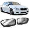 BMW F10 F11 (10-17) priekšējās restes, melnas, karbona