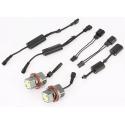 BMW E39; E53; E60; E61; E63; E65; E66; E87 eņģeļ acu LED marķieri, 120W, balti