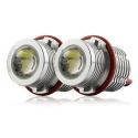BMW E39; E53; E60; E61; E63; E65; E66; E87 eņģeļ acu LED marķieri, 60W, balti
