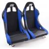 """Krēsls """"Los Angeles"""" melns/zils, + sliedes, labais + kreisais"""