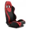 """Krēsls """"Monza"""", melns/sarkans, regulējams + sliedes"""