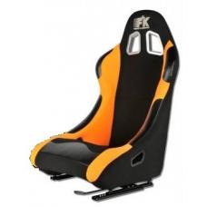 """Krēsls """"Los Angeles"""", melns/oranžs + sliedes"""