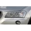 BMW X3 F25 priekšējo lukturu uzlikas, melnas