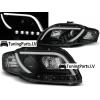 Audi A4 B7 (04-07) priekšējie lukturi, LED dayline DRL, melni