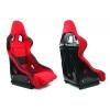 Krēsls RICO, melns/sarkans, + sliedes