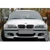 BMW E46 kupejas/kabrio (03-06) priekšējo lukturu uzlikas, melnas