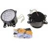 LED Dayline lukturi 18 Led 12V / 24V, hromēti
