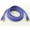 RCA audio vads, dubultais, 3m, apzeltīti gali, violets