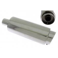 Izpūtējs - ieeja 60mm, izeja - 100mm, apaļš, slīps gals, papildus klusinātājs