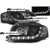 Audi A3 8P (03-08) priekšējie lukturi, LED dayline, DRL, melni