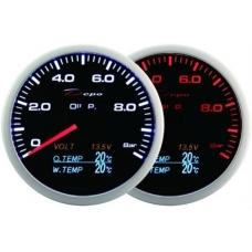 Mērītajs 60mm 4/1 Ūdens temperatūra, Voltmetrs, Eļļas spiediens, Eļļas temperatūra