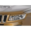 Jeep Compass (11-...) priekšējo lukturu uzlikas, melnas
